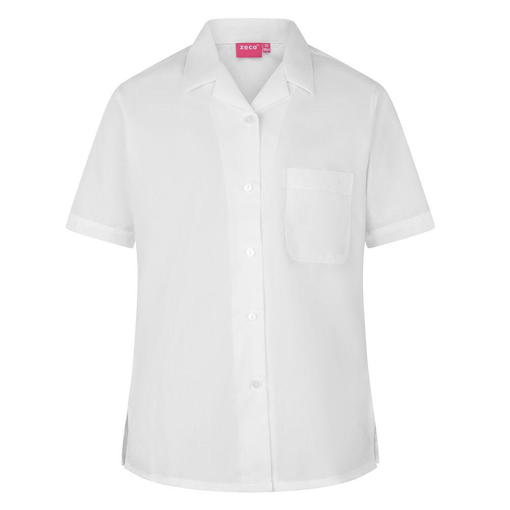 Girls School Uniform Short//lLong Sleeve Shirt Schoolwear Smart Blouse Size 22-46
