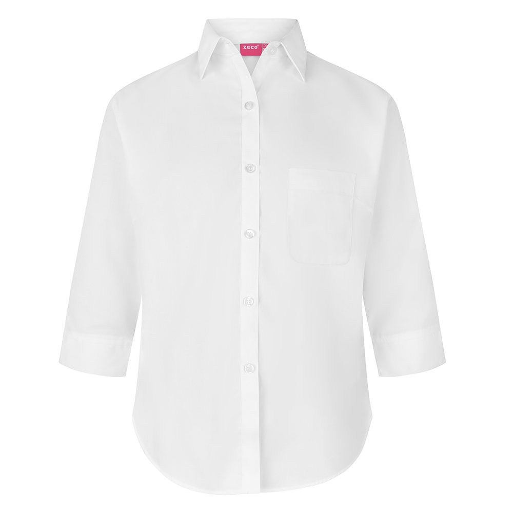 girls 3/4 sleeve school shirt