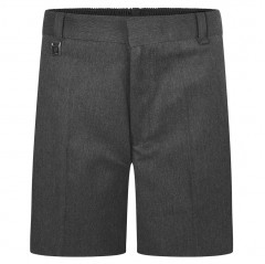 boys grey sturdy fit school shorts front