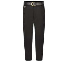 boys short leg school trousers front black