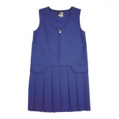 zip front school pinafore (2-16 yrs)