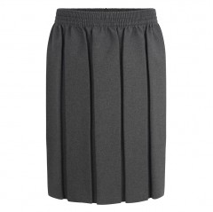 grey box pleat school skirt (2-20 yrs)