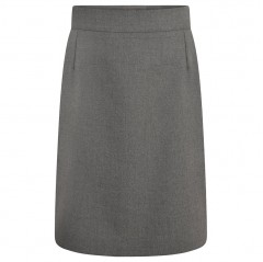 plain knee length skirt