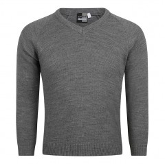 knitted v-neck school jumper (superior quality)