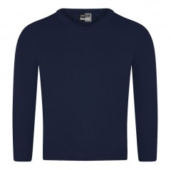 knitted v-neck jumper (superior quality)