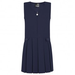 navy blue school pinafore front